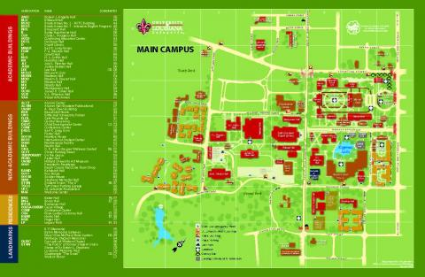 ul lafayette campus map Campus Map Office Of Transportation Services ul lafayette campus map